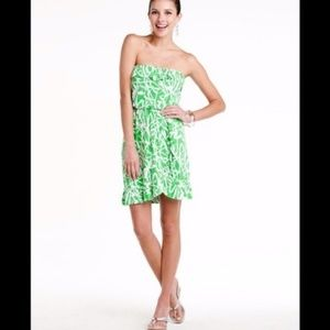 Lilly Pulitzer Dragonfly Strapless Ruffle Frill